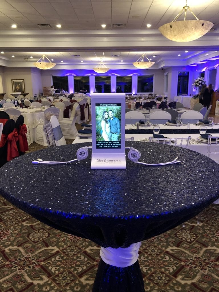 Wedding reception phone charging station